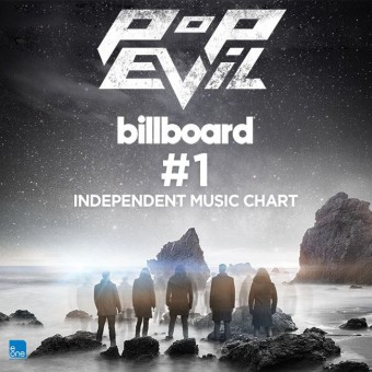 Pop Evil - Billboard Indie Music Chart - #1 - promo flyer - 2015 - #MMMS330