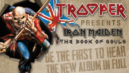 Trooper - Iron Maiden - The Book Of Souls - listening party events banner - 2015