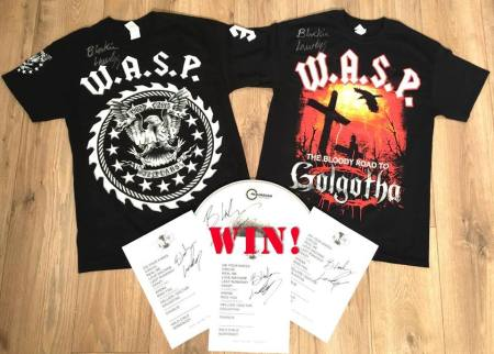 WASP - Tour Merch Autographed promo pic - 2015 - #092416MMSWLF