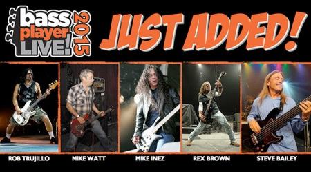 Bass Player Live - 2015 - promo banner pic - Rob Trujillo - Rex Brown - Mike Inez - #MO330903SNMSSC