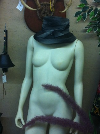 Creepy nude mannequin - antiques mall - 2015 - #MO337099
