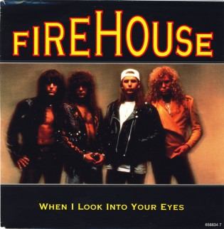 Firehouse - When I look into your eyes - promo 45rpm cover sleeve - 1992 - #03MNMOS993314