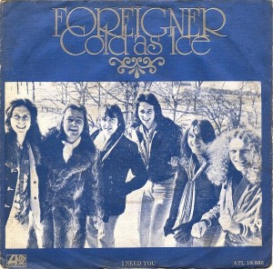 Foreigner - Cold As Ice - promo 45rpm cover sleeve - 1977 - #MOSMNSOT330099