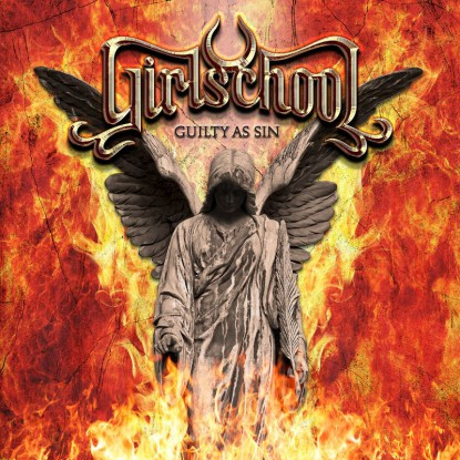 Girlschool - Guilty As Sin - promo album cover pic - 2015 - #MN0033SS