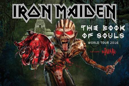 Iron Maiden - The Book Of Souls World Tour - promo flyer - 2015 - #333033MNSSTO