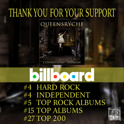 Queensryche - Condition Human - Billboard rankings promo pic - 2015 - #33MOQNSSM