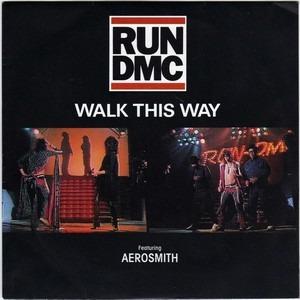 Run DMC - Aerosmith - Walk This Way - promo cover sleeve - 1986 - #MOSCNS33