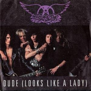 Aerosmith - Dude Looks Like A Lady - promo 45rpm cover sleeve - #MOSNSMM33F