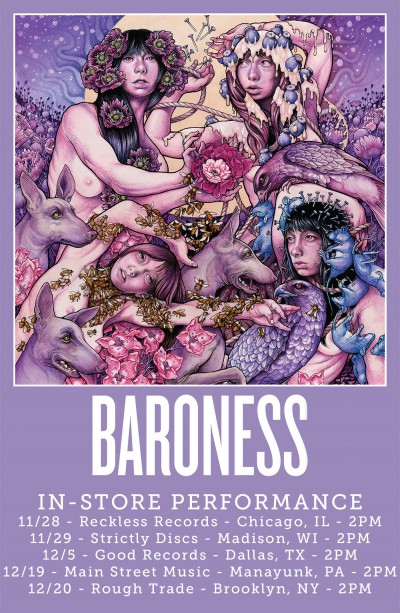 Baroness - Purple album - store signings - promo flyer - 2015 - #MO330SNMS999