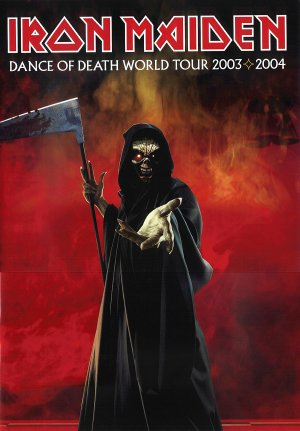 Iron Maiden - Dance Of Death - World Tour - promo tour program cover pic - 2003 - 2004 - #MOIMMSSN9393777