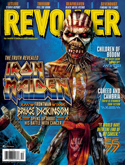 Iron Maiden - Eddie - cover feature - Revolver Magazine - December 2015 - #MOIMNSSM99033