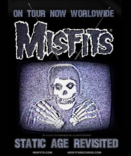 Misfits - Static Age - Revisited - promo world tour flyer - 2015 - #MOSNMS33