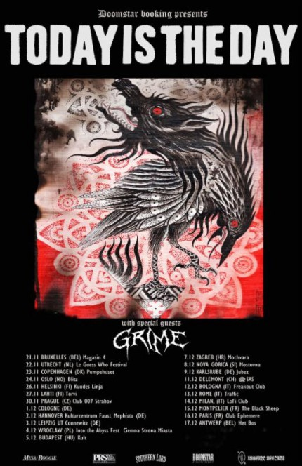Today Is The Day - Grime - European Tour Promo Poster - 2015 - #MO777NMSS33FD