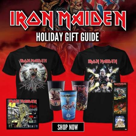 Iron Maiden - Holiday Gift Guide - promo merch flyer - 2015 - #MOIM33NASF33