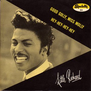 Little Richard - Good Golly Miss Molly - promo 45rpm cover pic - 2015 - #MOLR33MN