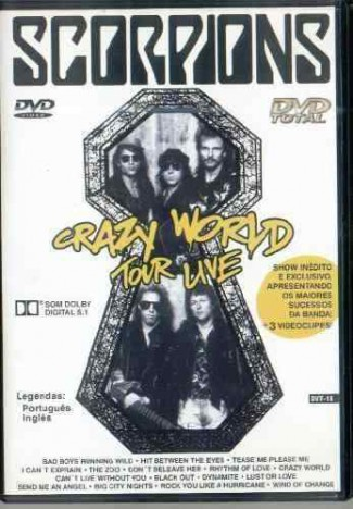Scorpions - Crazy World Tour Live - promo DVD cover pic - #MO33SMNSF