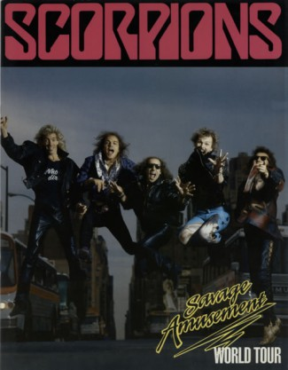 Scorpions - Savage Amusement World Tour - program promo pic - 1988 - #MO333NSF9969
