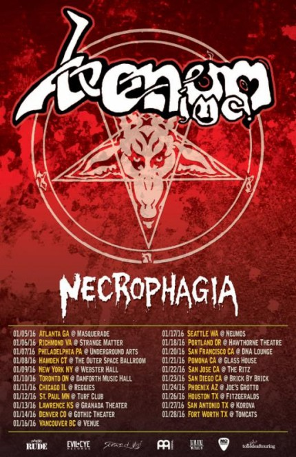Venom Inc - Necrophagia - Tour Promo Flyer - January 2015 - #MO10339933MDFNST