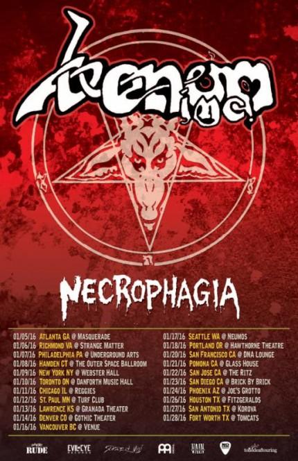 Venom Inc - Necrophagia - Tour Promo Flyer - January 2015 - #MO10339933MDFNST