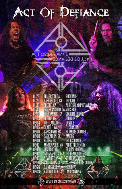 Act Of Defiance - January - February - 2016 - tour flyer promo - #MO339903ILMFD