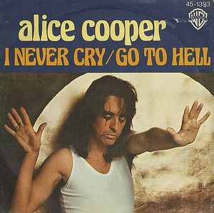 Alice Cooper - I never Cry - promo 45rpm cover sleeve - 1977 - #MO3399ILAMF96