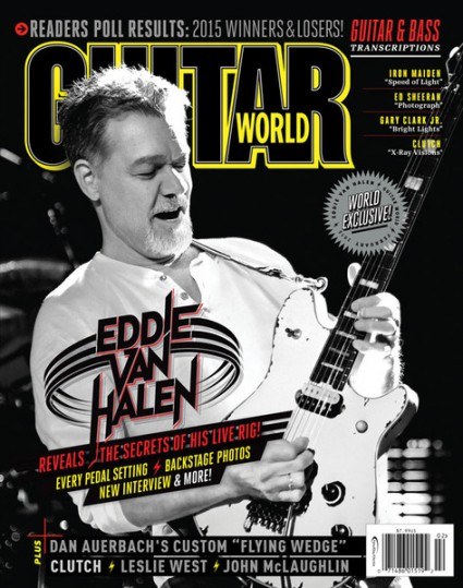February - Guitar World - 2016 - Eddie Van Halen - cover promo - #MO33ILMDAF99