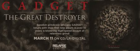 Gadget - The Great Destroyer - promo album banner - 2016 - #MOILMFD33099