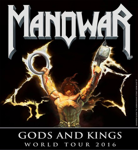 Manowar - Gods And Kings - World Tour 2016 - promo flyer - #MOILMFILD330099