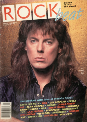 Don Dokken - Rock Beat - magazine cover promo - 1988 - #MO3993ILMFD9