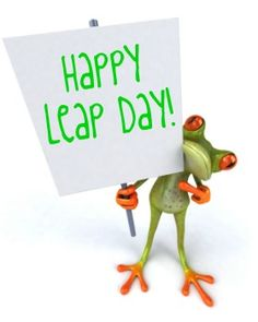 Happy Leap Day - funny frog image - #MO00999ILMF33