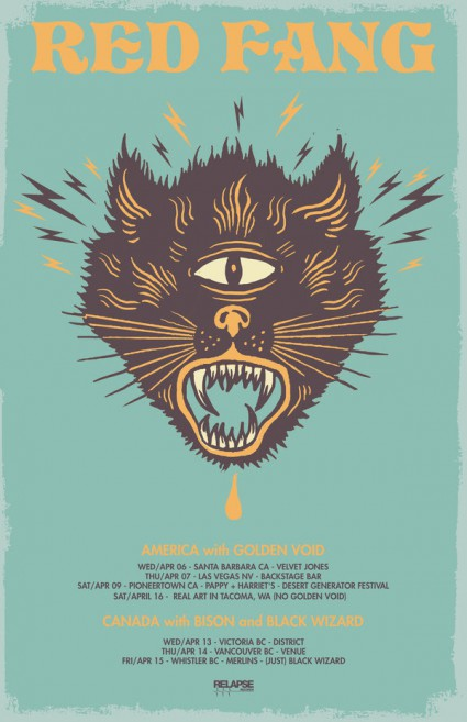 Red Fang - promo tour flyer - April 2016 - #MO099393ILMFD