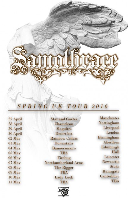 SAMOTHRACE - April - May - Spring 2016 - promo tour flyer - #MO090999