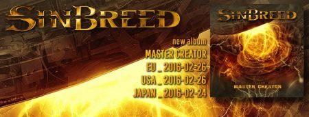 Sinbreed - Master Creator - promo album banner pic - 2016 - #MO99ILMF