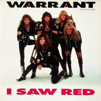 Warrant - I Saw Red - promo 45rpm cover - 1990 - #MO99933MM