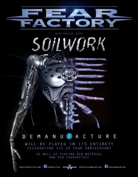 Fear Factory - Demanufacture - tour promo flyer - 2016 - #MO099099ILMF