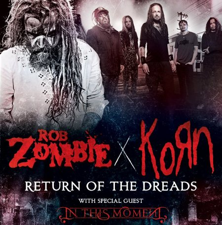 Rob Zombie - Korn - Return Of The Dreads - promo tour flyer - 2016 - #MO99099ILMF