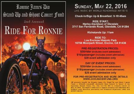Ronnie James Dio - Stand Up And Shout - Ride For Ronnie - 2nd Annual - 2016 - #MORJD9939