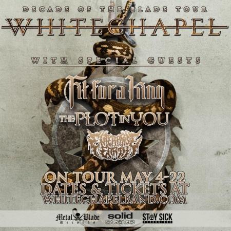 Whitechapel - Decade Of The Blade Tour - 2016 - May - promo tour flyer - #MO963639MR