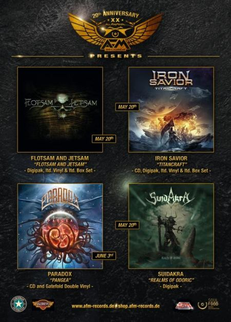 AFM Records - May - June - 2016 - Metal Album Releases promo flyer - #MO996699