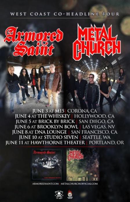 Armored Saint - Metal Church - promo tour flyer - Summer 2016 - #MO999ILMFBJ