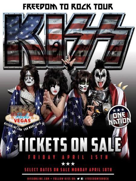 KISS - Freedom To Rock Tour - 2016 - promo flyer - #MO099073ILMF
