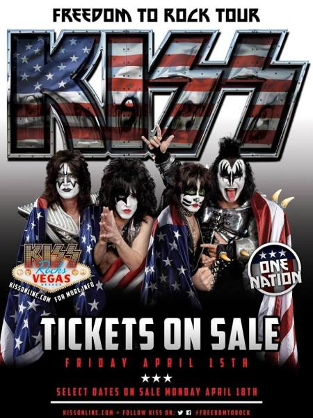 KISS - Freedom To Rock Tour - 2016 - promo flyer - #MO099073ILMF