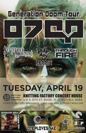 OTEP - April 19 - 2016 - Knitting Factory - concert flyer promo - #MO000669639OS