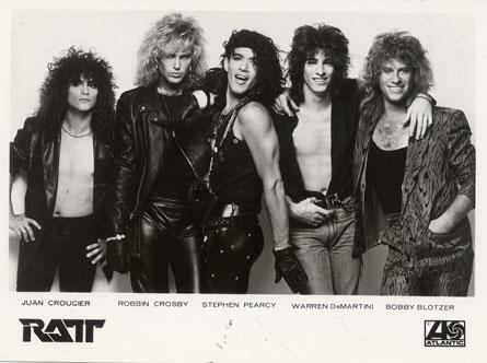 Ratt - promo band card - circa 80's - #MO9909988ILF