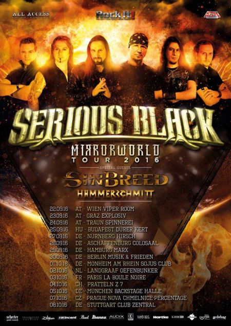 Serious Black - Mirrorworld Tour - 2016 - promo flyer - #MOINABJ99