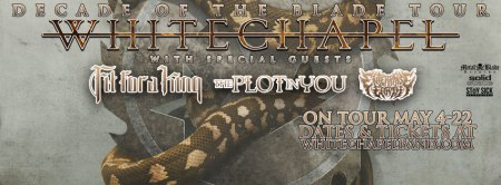 Whitechapel - Decade Of The Blade Tour - 2016 - promo banner - #MO99339