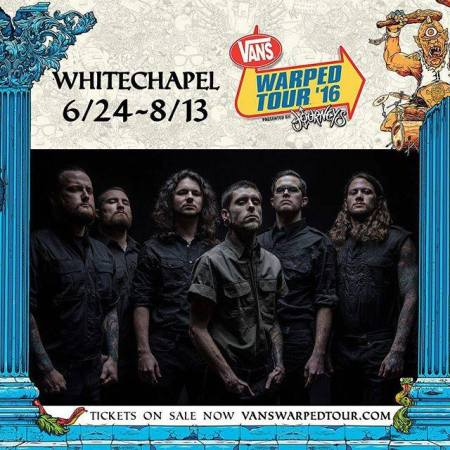 Whitechapel - Vans Warped Tour - 2016 - promo band pic - #MO9339ILMF