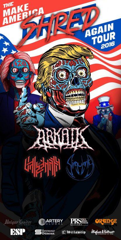 Arkaik - Make America Shred Again Tour - 2016 - promo tour flyer - #MO999ILNGF