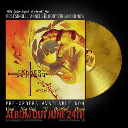 Denner Shermann - Masters Of Evil - promo gold vinyl pic - 2016 - #MO996676ILMGFSO