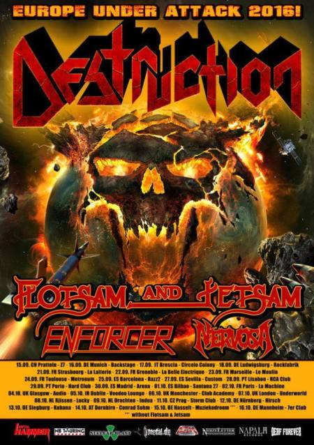 Destruction - Europe Under Attack 2016 - promo flyer - Enforcer - #MO99933